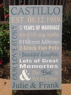 ... 35th 30th 35th 40th 45th 50th anniversary gift vow renewal