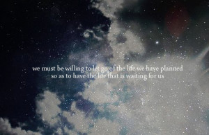 planned, quote, sky, stars, waiting, willing to let go