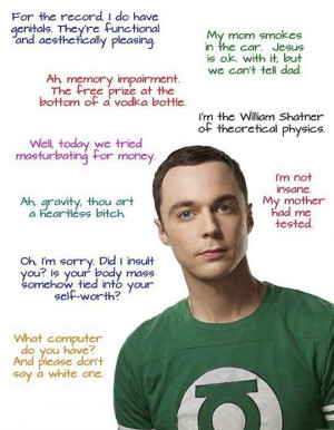Sheldon - Click image to find more humor Pinterest pins