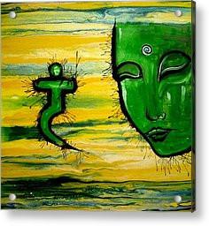 Buddha Quotes Paintings Acrylic Prints - Contemporary Original Yellow ...