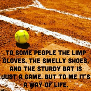 To some people the limp gloves, the smelly shoes and the sturdy bat ...