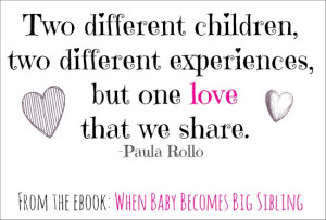 Sibling Quotes - When Baby