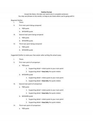 Extended essay outline