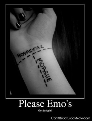 quotes about cutting yourself emo quotesgram