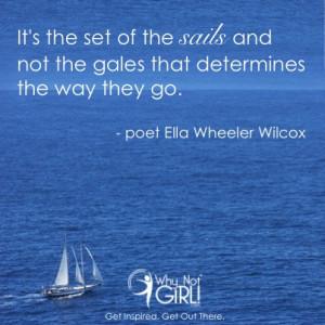Ella Wheeler Wilcox sailing quote