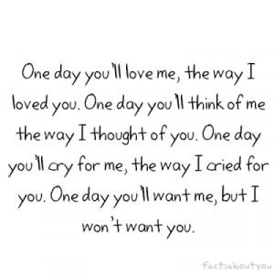 you love me
