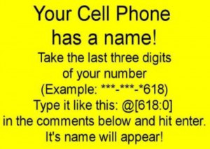 Jessica Northey's photo: Your cell phone has a name. (mines is Omar ...