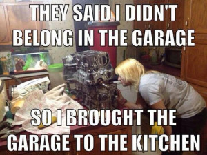 ... Cars Mechanics, Girls Cars Memes, Girls Mechanics Quotes, Cars Stuff