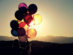 ballons, balloon, cute, girl, love, photography, silhouette, sun