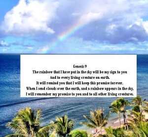 His beautiful promise (Genesis 9:11)