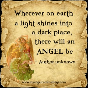 ... dark place there will an angel be author unknown more angel parchment