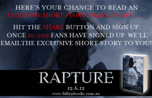 From Lauren Kate's blog:Visit the Fallen Books facebook page and ...