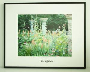 Summer Garden Scene Inspirational Quote by JustforJoyCreations, $30.00 ...