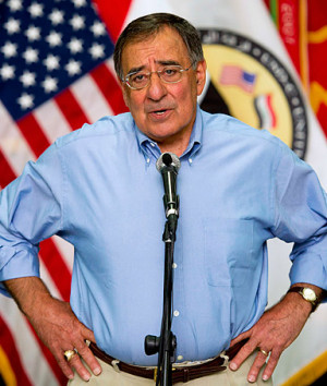 Defense Secretary Leon Panetta delivers remarks to U.S. troops as ...