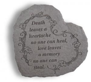 Death Gift Idea - Memorial Stone