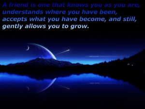 ... quotes | Friend, friendship quote, love, moon rising, shooting star