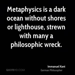 Metaphysics Dark Ocean...