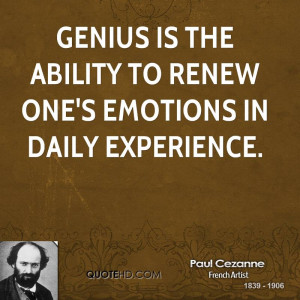 Paul Cezanne Experience Quotes