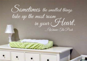 Wall Decal - Winnie The Pooh Quote - Nursery Kids Room Decor Wall ...