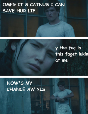 LOL funny The Hunger Games THG katniss everdeen jennifer lawrence Josh ...