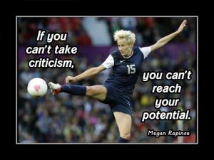 Soccer Poster Megan Rapinoe Photo Quote Wall Art Print 8x11