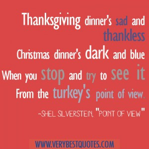 Thanksgiving dinner's sad and thankless