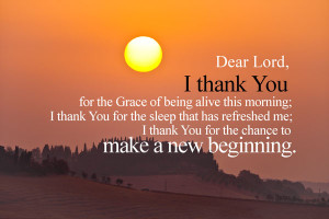 ... has refreshed me; I thank you for the chance to make a new beginning