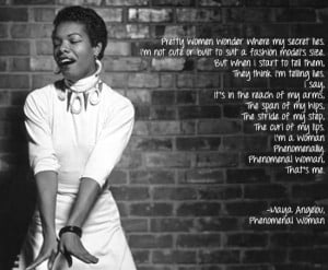 Maya Angelou Quotes Phenomenal Woman Maya Angelou quote