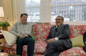 C2403-4A, President Reagan meeting with Henry Kissinger in the ...