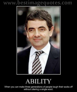 Title: The Power of Silence- Mr. Bean (Rowan Atkinson).