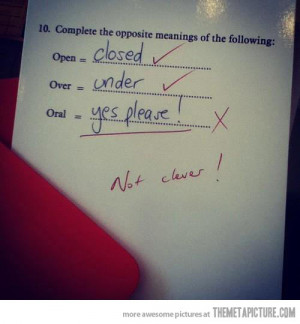 Funny photos funny test answers college exam