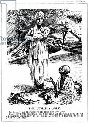 as Mahatma (Great Soul). Indian Nationalist leader. Gandhi fasting ...