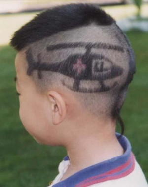 funny china haircut, funny haircut, curious hair cut