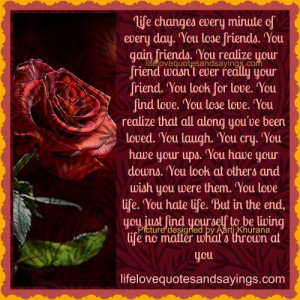 Life Changes Every Minute Of Every Day..