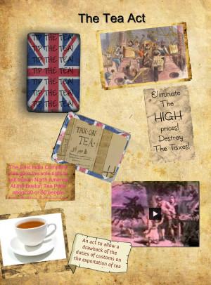 The Tea Act nasha isabella - ThingLink