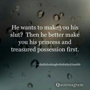 Make me your princess.