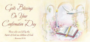 God's Blessings on Your Confirmation Day (8016-8) Money Holder Card