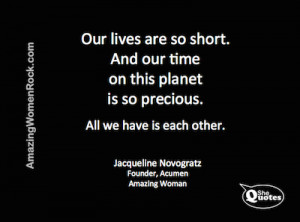 SheQuotes Jacqueline Novogratz on connection #Quote #humanity #life # ...