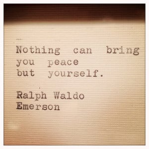 Ralph Waldo Emerson Framed Quote Made On Typewriter