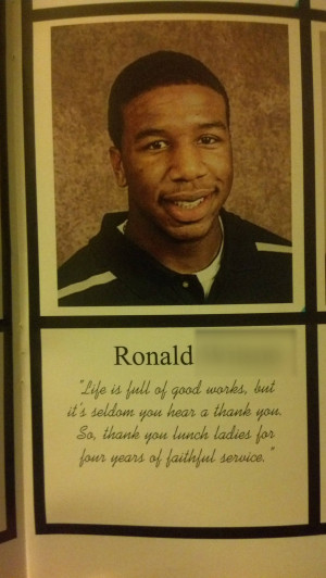 also saw a good yearbook quote from a friend of mine. ( i.imgur.com ...