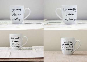 Romantic Quote Cups