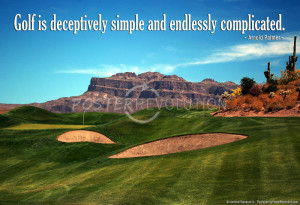 Arnold Palmer Golf Quote Art Print Poster - 19x13