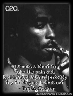 tupac shakur # tupac 2pac # blunt # smoke # smoking # weed