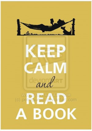 Keep calm and read a book by petrapurple