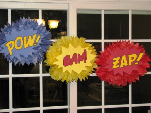 superhero classroom bulletin board ideas | superhero tissue paper ...