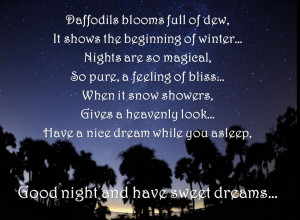 Winter nights are so heavenly-Good Night