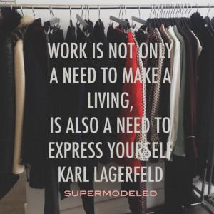 Karl Lagerfeld on work