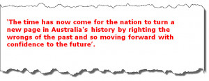 Kevin Rudd - Apology to the stolen generation