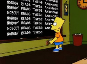Bart Simpson at the Blackboard (70 pics)