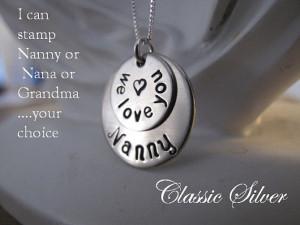 ... Nanny Brag Keepsake Necklace - Great Gift for Nanny, Nana or Grandma